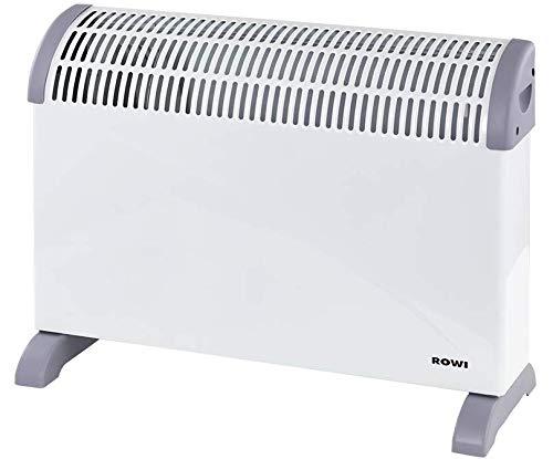 ROWI Elektroheizgerät Wärmekonvektor | 2000W | 3-Heizstufen | Überhitzungsschutz | Thermostatregler