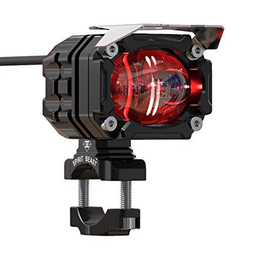 Motorrad Nebel Led-licht Spotlight,30w 4000lm Motobike Scheinwerfer,wasserdicht Cree Motorrad Zusatzleuchten Dot-zusatzlampe Schwarz