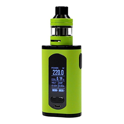 Eleaf Invoke Kit 220 Watt mit ELLO T Clearomizer 2 ml / 4 ml, Riccardo e-Zigarette, grün