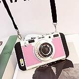 WHXJ New Emily In Paris Phone Case Vintage Camera, Vintage Paris Phone Case, con Tapa Y Cordón, Funda De Teléfono para iPhone 11 Pro Max/X/Xs/Max/7/8 Plus Negro 11Pro MAX