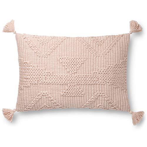 Loloi P0828 Pillow 16u0022 x 26u0022 Cover Only in Blush (P013P0828BH00PI15)