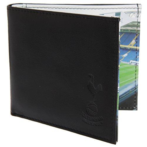 Tottenham Hotspur FC - Cartera/Billetera oficial de piel Modelo Stadium hombre caballero - Fútbol (Talla Única) (Negro)