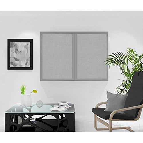 Soleil d'ocre Rideaux Brise-bise, Gris, 60 x 90 cm