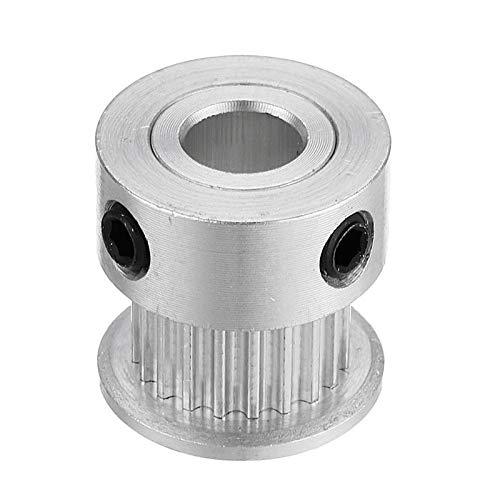 Shuxiang-Timing Belt Pulley, GT2 Timing Pulley 20 Teeth, Synchronous Wheel Inner Diameter 5mm/6.35mm/8mm, For 6mm Width Belt, For 3D Printer (Bore Diameter : Bore Diameter 5mm)