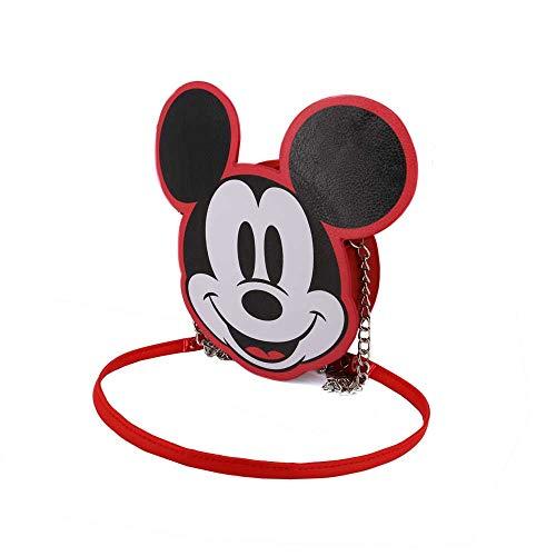 Karactermania Diseny Icons Mickey Mouse-Bolso Cadena Wide Bolso Bandolera, 20 cm, Rojo