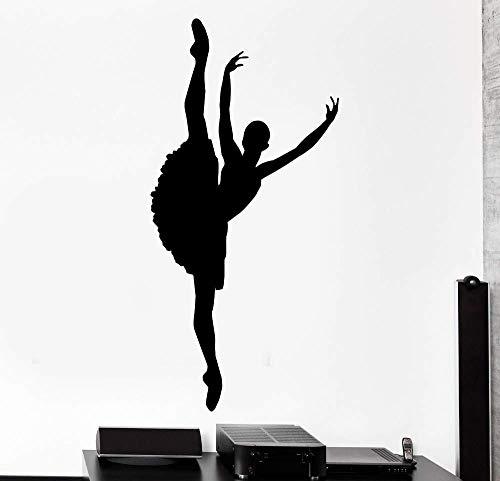 Tänzerin Wandkunst Aufkleber Mädchen Raumdekoration Tanz Liebhaber abnehmbare Wand Poster Tanz Tapete 48cmX102cm