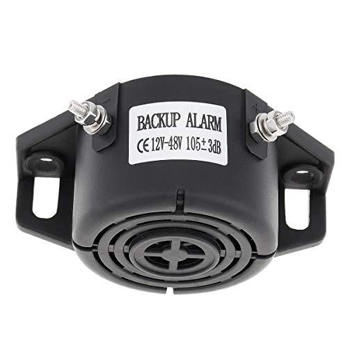 LIUWEI Bocina 12 V/48 V 105 dB coche de inversión cuerno de respaldo de alarma de bocina de respaldo Accesorios de advertencia auto impermeable ajuste para motocicleta coche