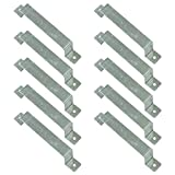 """Image of Woodside Pack of 10 Fence Panel Security Brackets – Fits 4"""" x 4"""" Posts – Strong, Galvanised Steel – For Concrete or Wood – Predrilled, Fixings Included"""