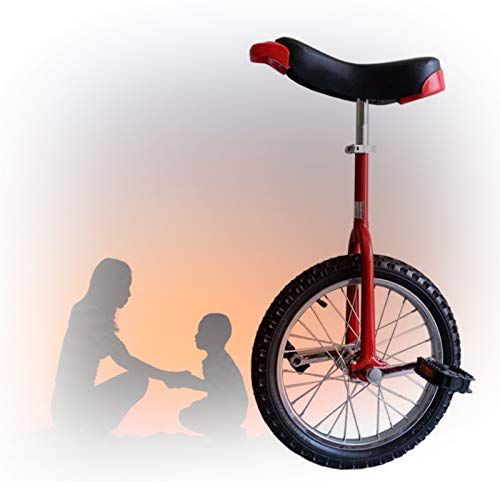 GAOYUY Trainer Einrad, Mit Alufelge Unisex 16/18/20/24 Zoll Rad Einrad Für Erwachsene Kinder Übung Spaß Fahrrad Fahrrad Fitness (Color : Red, Size : 24 inch)