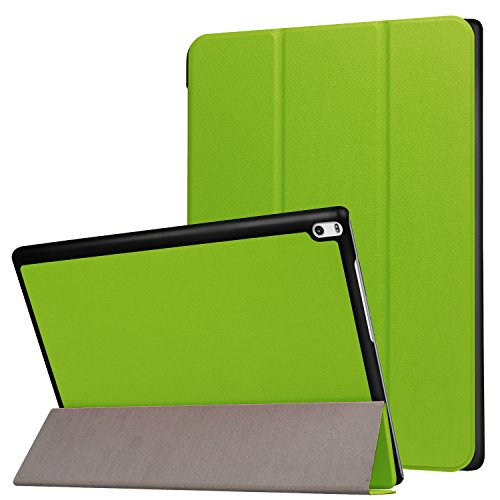 Yobby Case for Lenovo TAB4 10 Plus TB-X704F/704N,Leather Folio Smart Cover with Auto Wake/Sleep,Multiple Viewing Angles Stand [Corner Protection] Cover for Lenovo TAB4 10 Plus TB-X704F/704N-Green