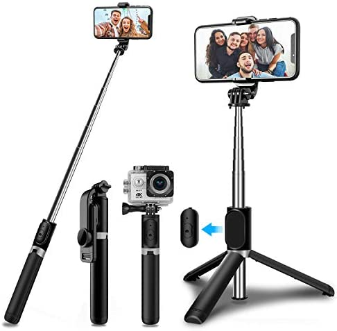 SYOSIN Selfie Stick Tripod with Wireless Remote Mini Extendable 4 in 1 Selfie Stick 103cm 360 product image