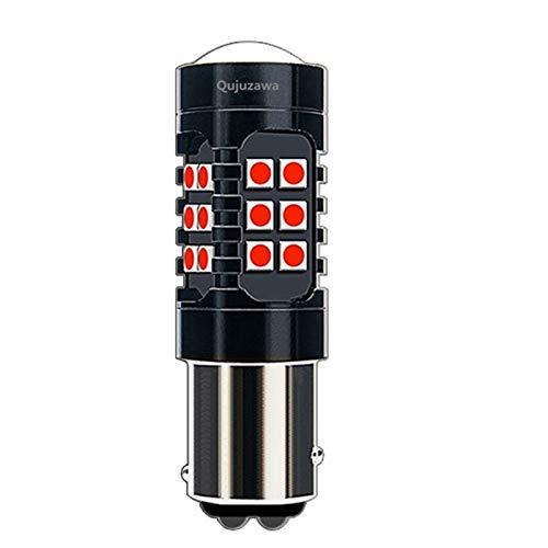 ShawnBlue Ligero 1 unids 2018 Nuevo 1157 BAY15D P21 / 5W Strobe Heartbeat 1200lm Super Vivid 3030 LED Lámpara de Freno Auto Bombilla Bombilla Rojo (Emitting Color : White)