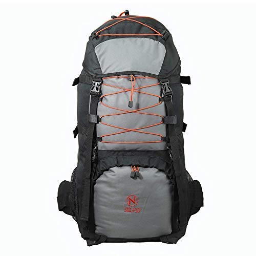 NULF Internal Frame Hiking Backpack 50L+10L Unisex High-Performance Pack for Travelling Camping Outdoor Trekking Rucksack with Waterproof Rain Cover