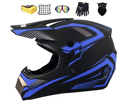 NJYBF Casco professionale da motocross, Casco da moto cross, Certificato D.O.T MTB casco da cross per downhill Bike ATV BMX (L (56-57 cm))