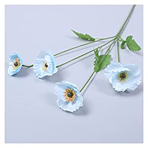 Gorgeous Super Artificial Flowers, You Can Put A Bottle To Make Decorative Bouquets, Wedding Decoration Artificial Flowers for Silk Poppies (Orange) For Friends And Relatives Splendid ( Color : Blue )