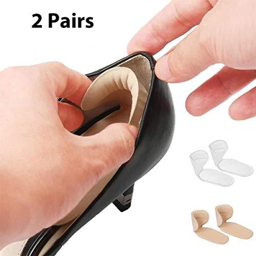 Faneli Fersenhalter (2 Paar) - Fersenpolster Antislip, Fersenkissen Fersenschutz und für Schmerzlinderung, Schuheinlagen aus Gel - Fersenpolster - Fersenschutz