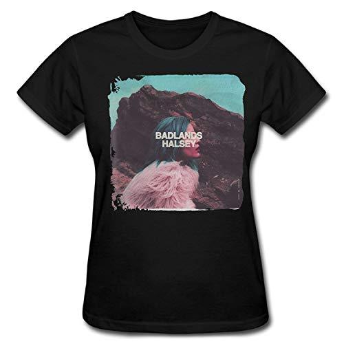 Women's Halsey Badlands Album Short Sleeve T Shirt Grils Funny T-Shirt