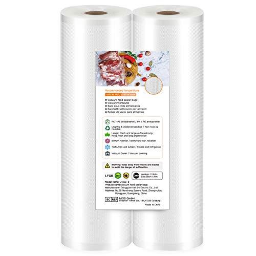 Bolsas de Vacio para Alimentos,28 cm x 6 m, Rollos al Vacio