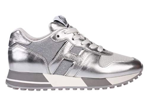 Hogan Sneaker Frau H383 Silber HXW3830CR00NCH0RSE