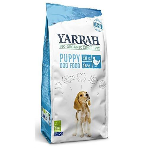 Yarrah Bio-Trockenfutter für Hunde – für alle Rassen und Altersgruppen | Exquisite Biologische Hundebrocken | 100% biologisch & frei von künstlichen Zusätzen (Welpen, 4 x 2 kg)