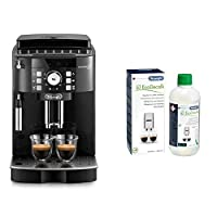 de'longhi macchina per caffè espresso superautomatica ecam21.110.b magnifica s & ecodecalk decalcificante naturale, 500 ml