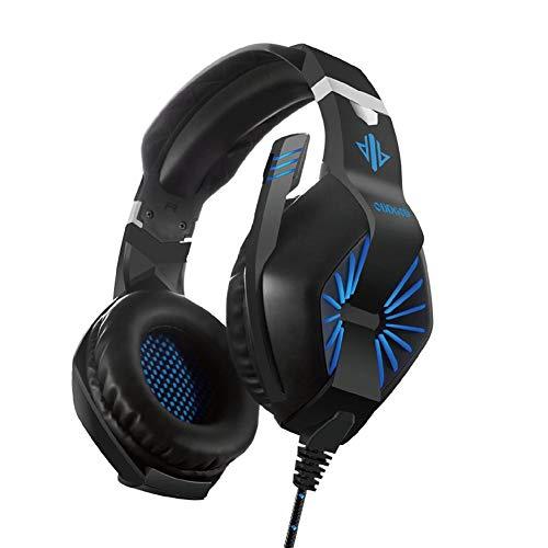 jinclonder headset-spel laptop headset licht bekabelde headset bedrade telefoonheadset voor PS4, Xbox One, PC