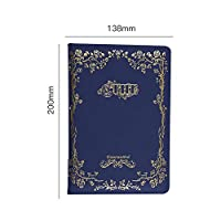 YIXINY レトロなノート、シンプルな学生日記、ビジネス会議メモ帳、事務作業メモ帳 (Color : Blue-01)
