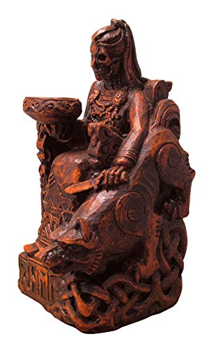Dryad Design Seated Norse Hel Statue - Goddess of The Underworld