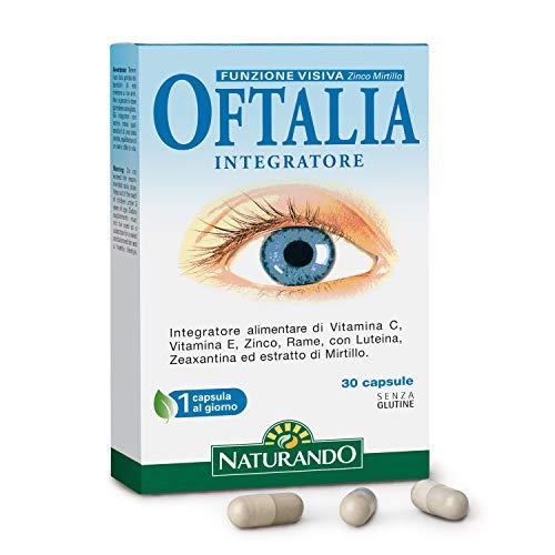 Naturando - Oftalia 30 Cápsulas - Complemento alimenticio para el Bienestar de la Vista