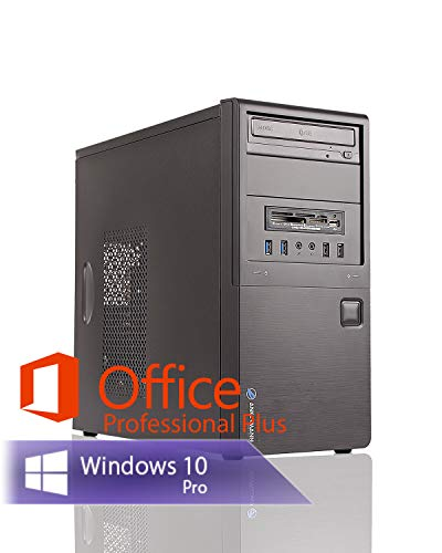 Ankermann Business Office Work PC Intel Core i5 4X 3.1 GHz Graphic DVI-HDMI-VGA 16GB RAM 480GB SSD 500GB HDD Windows 10 PRO W-LAN Office Professional