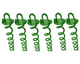 Ashman 16 Inch Spiral Ground Anchor Green Color - Ideal for Securing Animals,...
