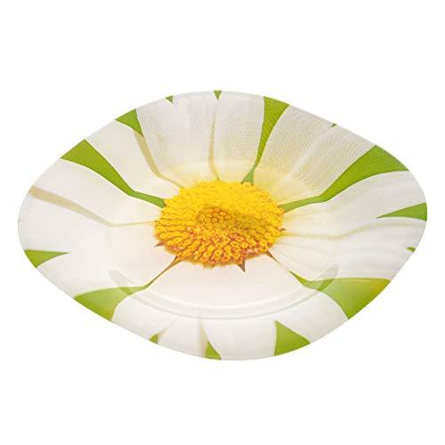 Dajar Postre Steller Paquerette Luminarc, Cristal, Verde, 18,5x 18,5x 1,7cm