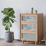 Anmy Moda de Madera Maciza gabinete de té pequeño apartamento Muebles de Sala de Estar de Cocina Cocina de Cocina Gabinete de Buffet (Color : Natural Color, Size : 64x42.5x98cm)