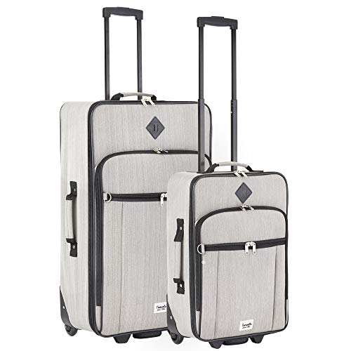 Travelz Hipster Reisegepäck Kofferset 2-teilig Trolleyset Koffer Grau