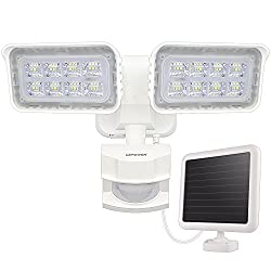 LEPOWER 1500LM Solar Lights Outdoor, Solar Powered Security Lights, Motion Sensing Security Lights, Home Security Lights, Home Security