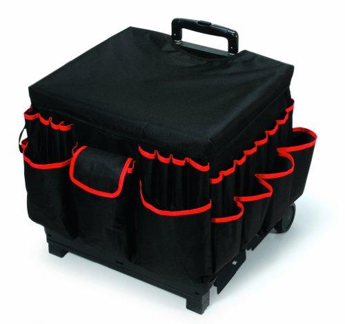Darice 1210-27 Rolling Craft Cart - Fabric Cover - Aluminum Handle, Large, Green