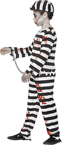 Smiffys Costume Zombie Detenuto, comprende Pantaloni, Top, Cappello e Manette