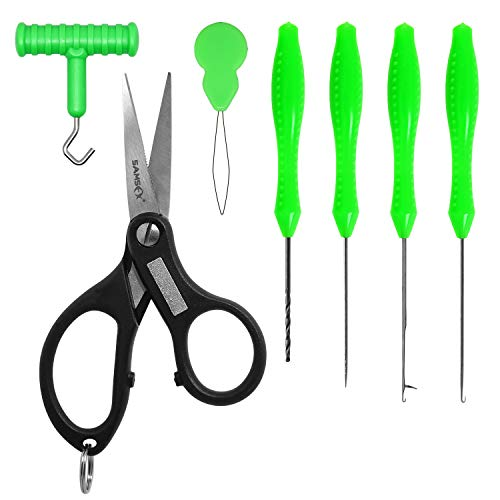 SAMSFX Carp Fishing Baiting Rigs Tool Kit Set Fishing Bait Needle Swinger Driller Kit Combo (ABS Handle)