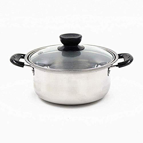 Marmite haute qualité soupe en acier inoxydable Pot ustensiles antiadhésifs Set Marmite Casserole, 16cm Huangwei7210 (Color : 18cm)