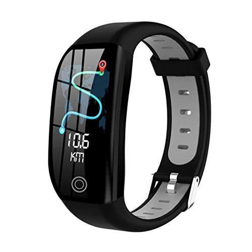 LXF JIAJU para Motorola One Vision Action Hyper Macro Zoom Z4 G7 Smart Pulsera GPS Rate Tasa De Corazón Reloj Band Smart Band Muñeca (Color : Black)