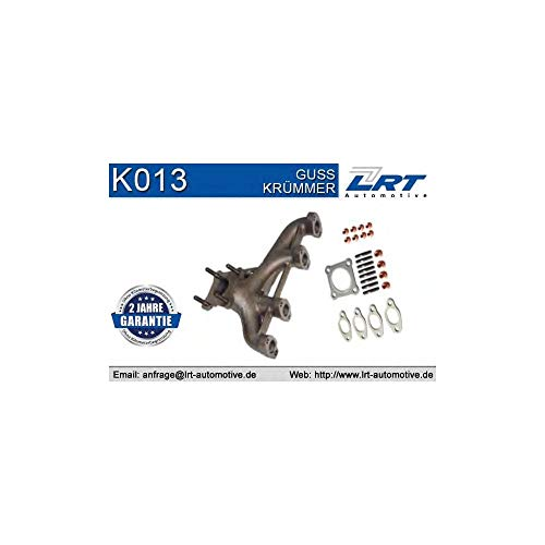 LRT K013 Krümmer, Abgasanlage