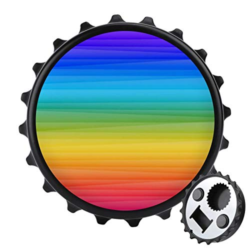 Rainbow Lines - Un regalo para papá, abridor de botellas magnético para cerveza o cola, tapa extraíble, se puede utilizar como imán de nevera