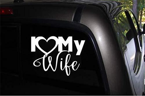 I Love My Wife (W) Vinyl Car Decal, MacBook, Laptop, DIY Window SUV...