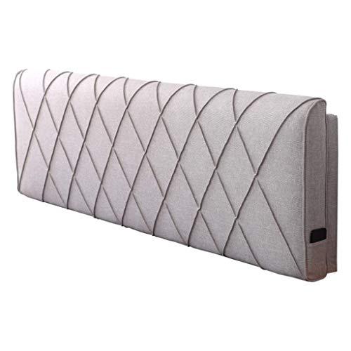 DX Soft Back Bed Pack, leeskussen met dubbel hoofdeinde, sprei in normale grootte, rugkussen, bedwasbaar en 4-kleurig bed, 5 maten (kleur: bruin, maat: zonder hoofdeinde 120 * 58 cm)