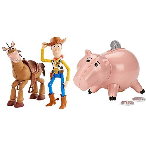 Toy Story Disney Pixar Woody and Bullseye Adventure Pack & Disney Pixar Toy Story Hamm Figure