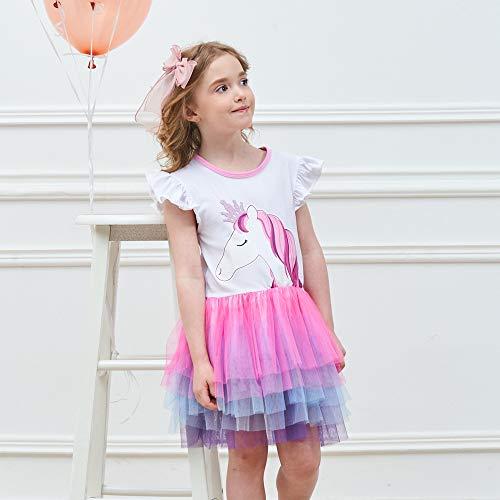 VIKITA Vestido Bordado Mariposa Algodón Tulle Tutu Sin Mangas Verano Niñas 4-5 años SH4590 5T