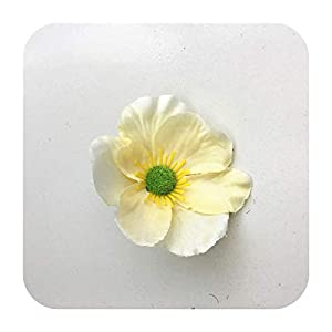 Hopereo 15Colors 7Cm Artificial Silk Poppy Flower Heads for DIY Wedding Decoration Hairpin Wreath Accessories Festival Supplier-10-25 Pieces