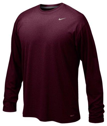 Nike Maroon Legend Long Sleeve Performance Shirt