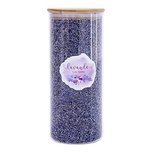 8 Cups Lavender in Large Glass Bottle, Highland Dried Lavender Flower Buds, LV-HG-1