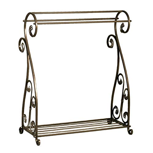 Lowest Prices! AK Energy 3 Rod Bar Bronze Finish Quilt Rack Blanket Stand Bedspread Storage Display ...
